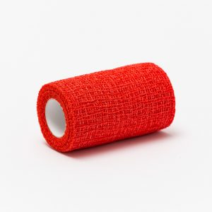 RAPID-haft öntapadó kötésrögzítő pólya 8cm x 4m piros