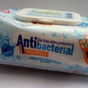 Higiéniai törlőkendő antibakteriális 80db